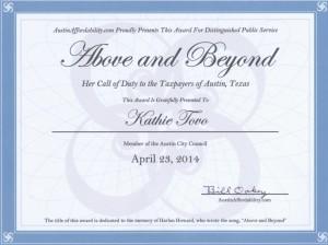 Tovo Award
