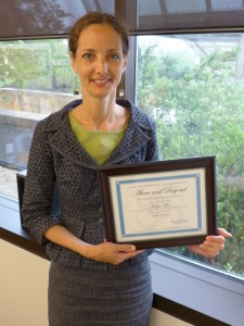 "Kathie Tovo With ""Above and Beyond"" Award"