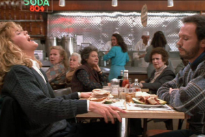 "restaurant scene from ""When Harry Met Sally"""