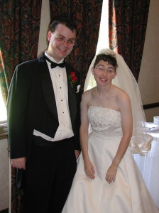My nephew, Nathan and his bride, Amanda at their June, 2002 wedding