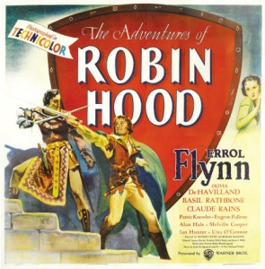 "1938 ""Adventures of Robin Hood"" Movie Poster"